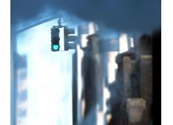 影楼背景图片-红绿灯(转角)