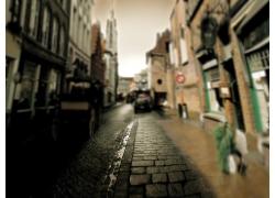 影楼背景图片-街道