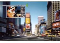 影楼背景图片-自由大道