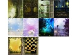 10张梦幻影楼背景高清图片