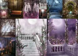 12张梦幻影楼背景高清图片