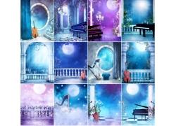 12张音乐主题影楼背景图片