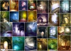 神秘色彩影楼背景图片(27p)
