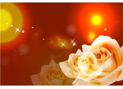梦幻白色玫瑰花移门图案