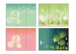 花卉植物移门图案