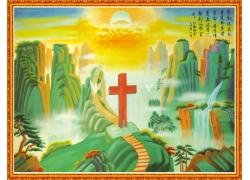 清真基督中堂画图案素材