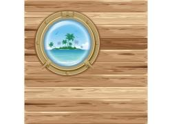 木板与圆形探口