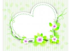 心形花卉植物背景素材