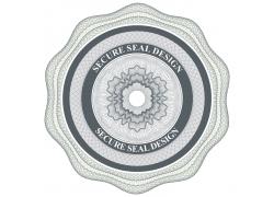 圆形证书花纹