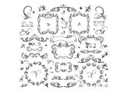 复古装饰花纹边框