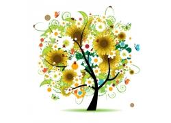 向日葵抽象树