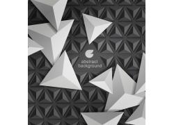 黑色立体三角形时尚背景