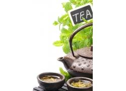 茶杯内的茶叶