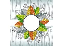 圆形与树叶花纹