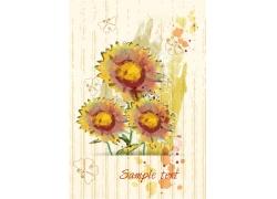 水墨向日葵花