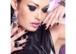 黑色彩妆系列美女