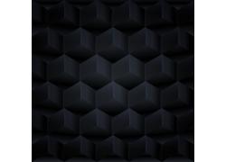 黑色立体金属背景