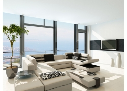 现代简约风格客厅装修设计