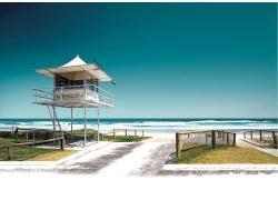 影楼背景-海边小屋
