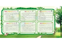 绿色藤蔓风格展板