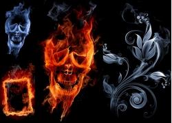 创意烟雾火焰设计高清图片