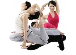瑜珈美女人物图片