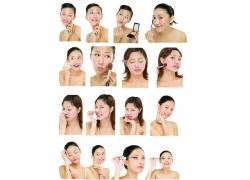 化妆美女人物集图片