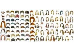 女性头型设计模板