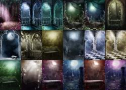 18张漂亮的影楼背景图片