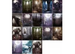 18张影楼背景高清图片素材