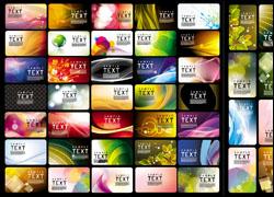 彩色风格名片模板矢量素材