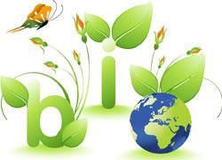 2款绿色环保主题图标矢量素材