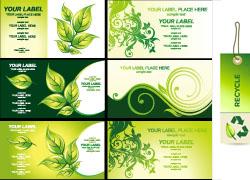 绿色卡片吊牌矢量素材