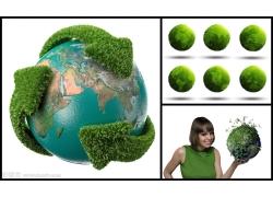 绿色地球高清图片(3p)
