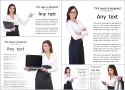 商业女人卡片高清图片(5p)