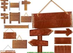 木牌矢量图