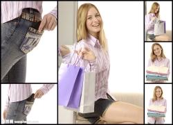 衬衫美女购物高清图片(6p)