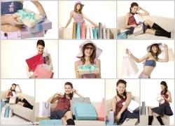 时尚美女购物主题高清图片(10p)