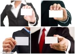 手持名片的商务人士高清图片(4p)
