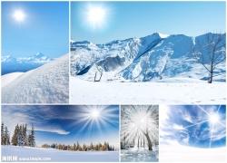 冬天太阳风景高清图片(5p)