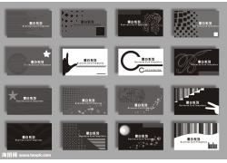 黑白风格名片模板图