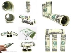 折叠的金钱图片素材(10p)