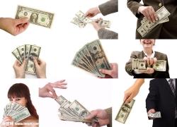 手中的金钱图片素材(10p)