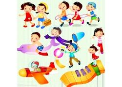 卡通可爱儿童素材