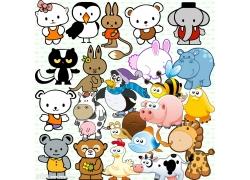 可爱卡通动物psd素材