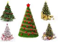 3D圣诞树图片素材(5p)