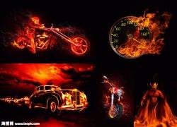 超酷火焰主题图片素材(5p)