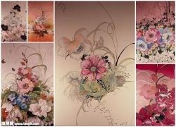 手绘花朵图片素材(6p)
