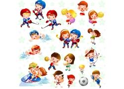 卡通运动儿童psd素材