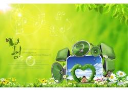绿色科技春天素材